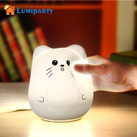 LumiPaty Cute Animal LED Night Light For Children Bedside Lamp Sensitive Tap Control LED Night Lamp USB Night Light