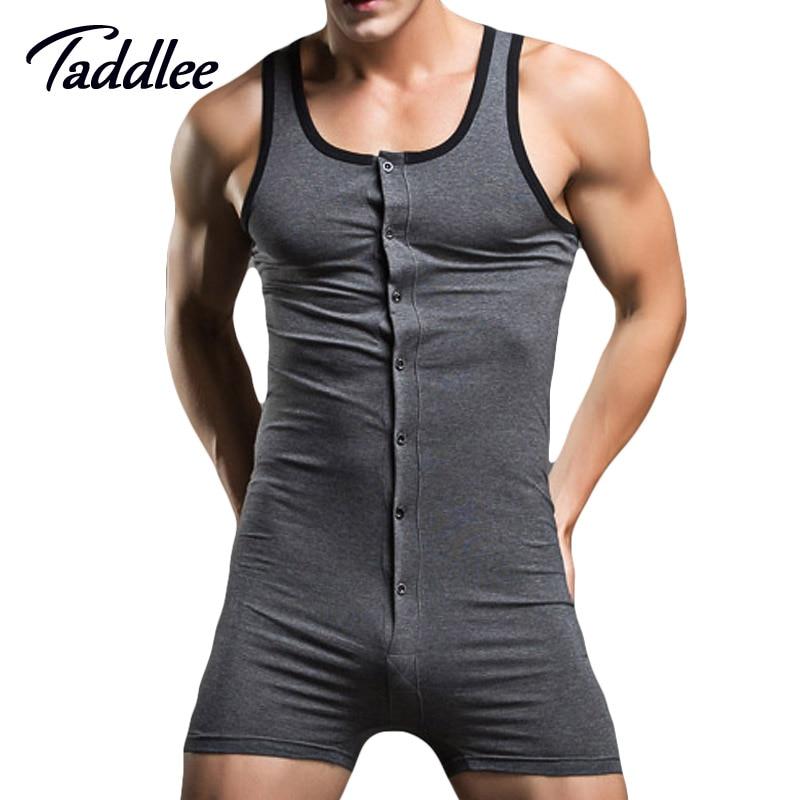 Taddlee Brand Sexy Men Bodysuit Gay Penis Pouch Man Body Suits Sexy Man Bodywear Bodybuilding Cotton Man Tank Top Singlets