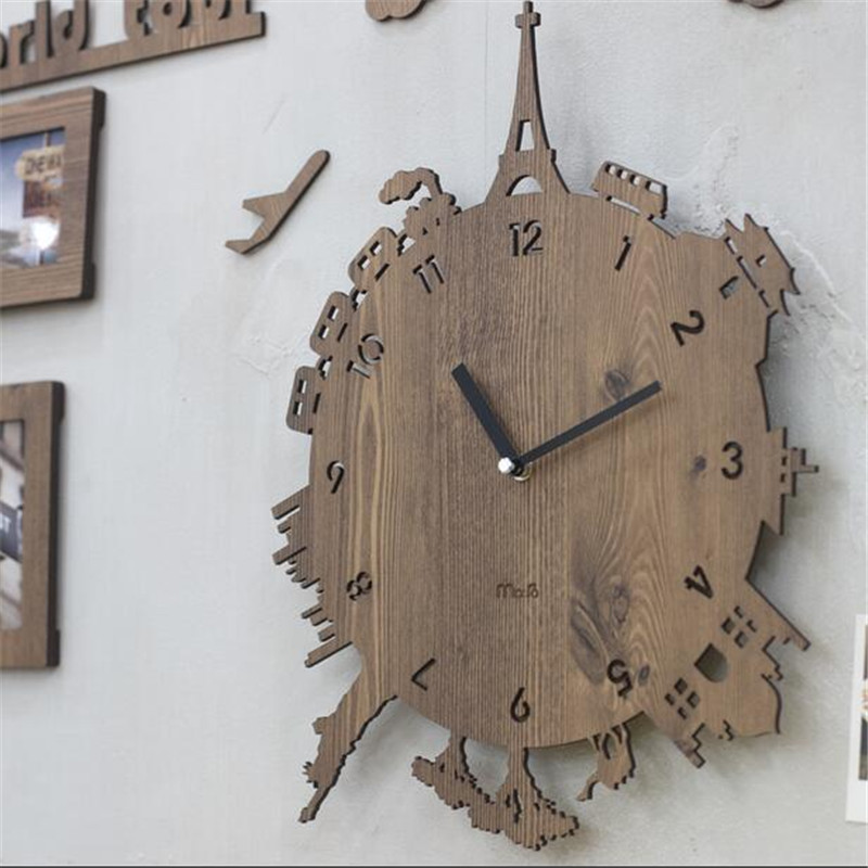 Pinjeas Individuality Decor Kids Room Silent Wall Clock Creative Decorations Bedroom Living 12 Inch Quartz Clocks