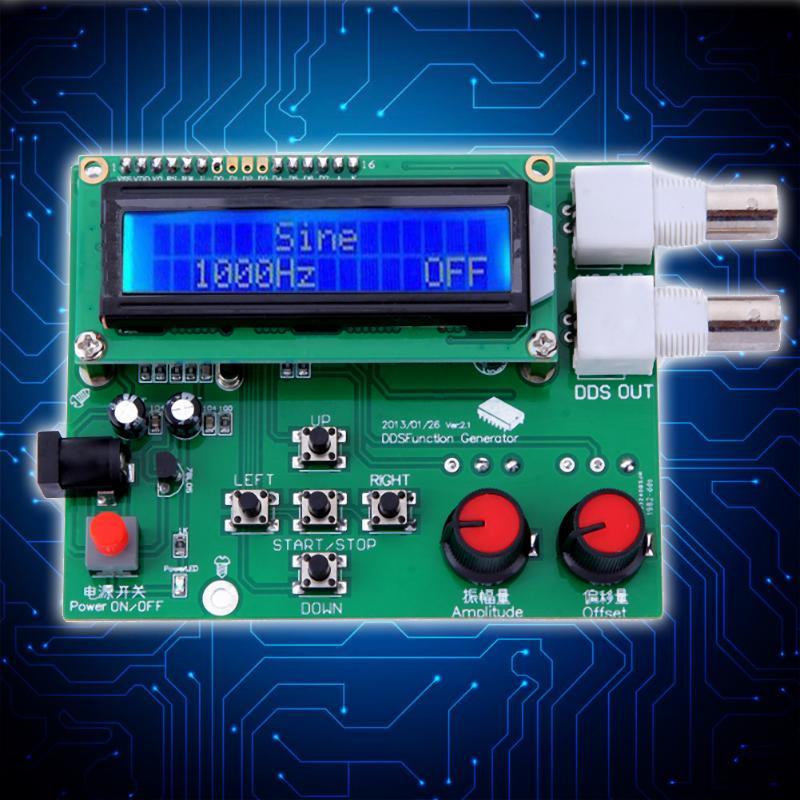 1Hz-65534Hz DC 7 V-9 V pantalla LCD función DDS generador de señal módulo Sawtooth triángulo onda senoidal Plaza Sawtooth onda Kit