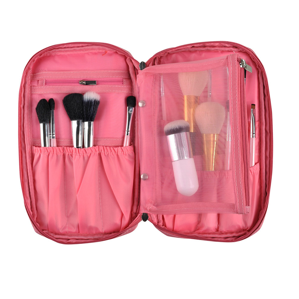 Pro Makeup Brush Bag Cosmetic Tool Brush Organizer Holder Pouch Pocket Kit  Cosmetic Bags  cosmetic bags for travel Women's 100cm creative slim diy mesh bag for cosmetic makeup brush 12290