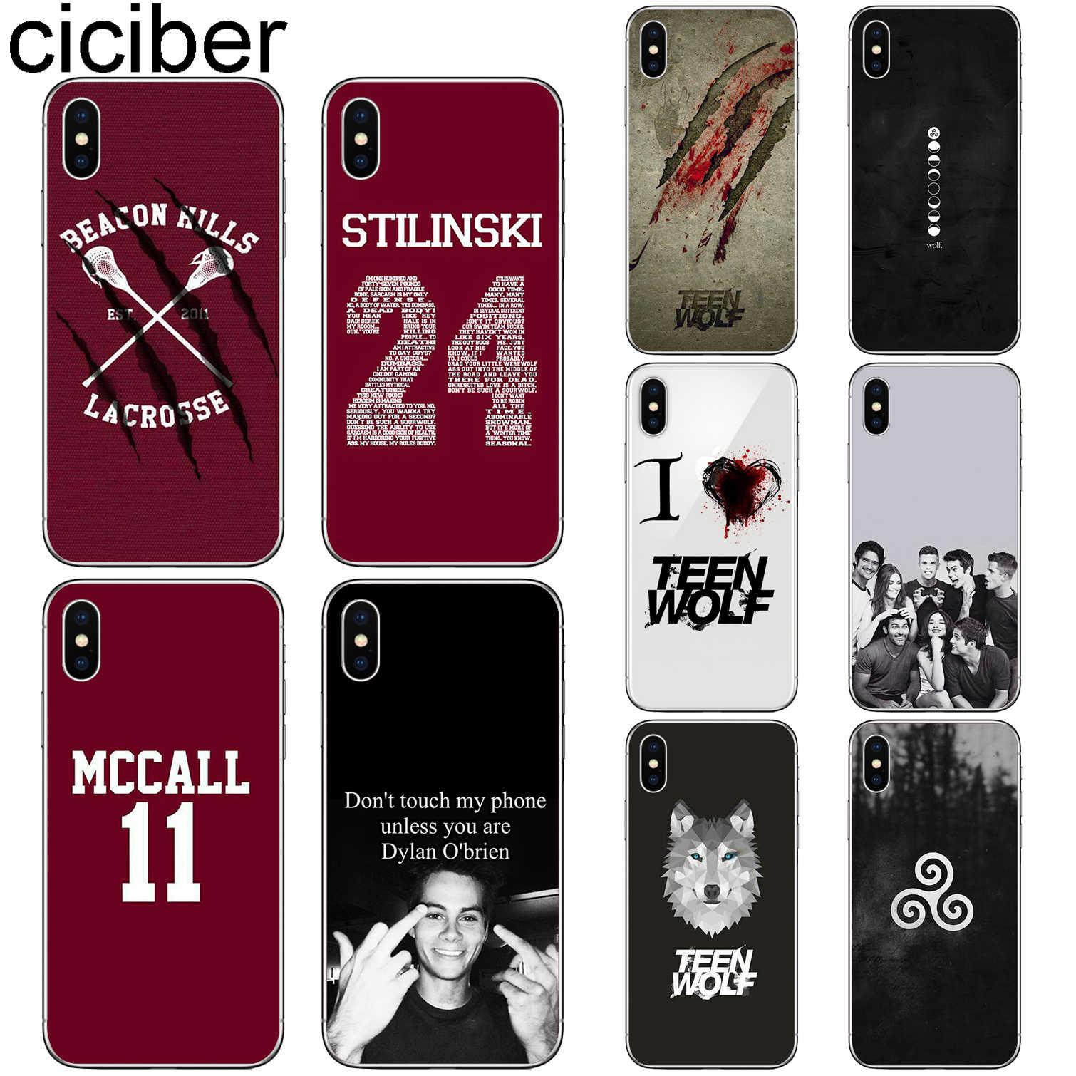 ciciber Teen wolf Cover Funda for Iphone 7 8 6 6S Plus 5S SE 11 Pro Max Soft TPU Phone Case for Iphone X XS MAX XR Coque Capa