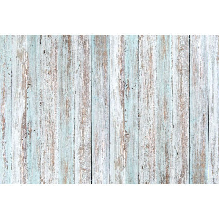 Fundo da foto luz azul parede de madeira chão esmagar bolo fotografia backdrops bebê mostrar fotografia estúdio foto pano de fundo adereços