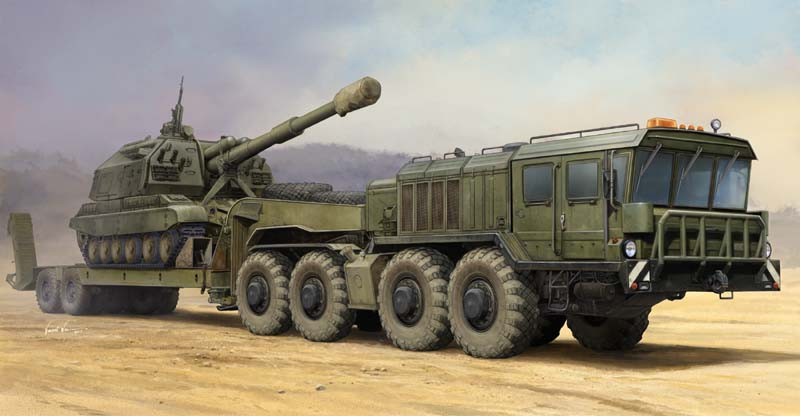 <font><b>Trumpeter</b></font> 1/35 01039 Russian KZKT-7428 Transporter with KZKT-9101 Semi-Trailer image