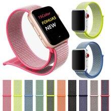 sport woven nylon loop strap for apple watch band wrist braclet belt fabric nylon band for iwatch1/2/3 series 38 mm 42 Velcro magic velcro nylon bundling belt strap black 10 pcs 2 x 29cm