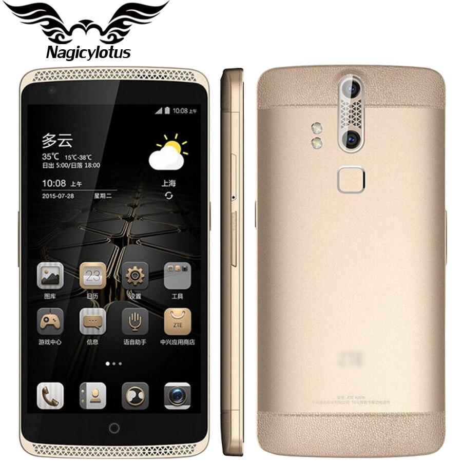 Original ZTE Axon A2015 4G LTE 4GB RAM 128GB ROM Mobile Phone Snapdragon 810 Octa Core 2.0GHz 5.5 inch Hi-Fi Fingerprint NFC