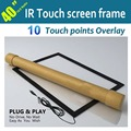 40 inch IR touch screen monitor Overlay, Ir multi touch screen frame without glass, Real 10 points