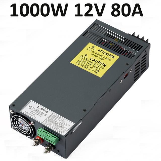 2 pieces 1000w led driver 12v 80a switching power supply lighting