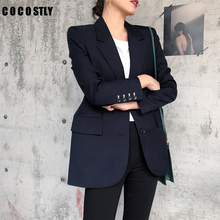 Grey Women Blazers And Jackets 2019 New Spring Autumn Fashion Single Button