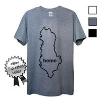 ALBANIA HOME T Shirt FIND YOUR OWN Country Men OR Women's Fitted Albanian flag