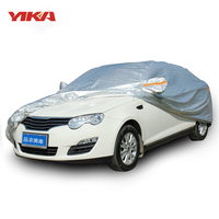YIKA Full Car Cover With Lock Anti Thief Waterproof Case For Car Sunshade Snow Protection Dustproof