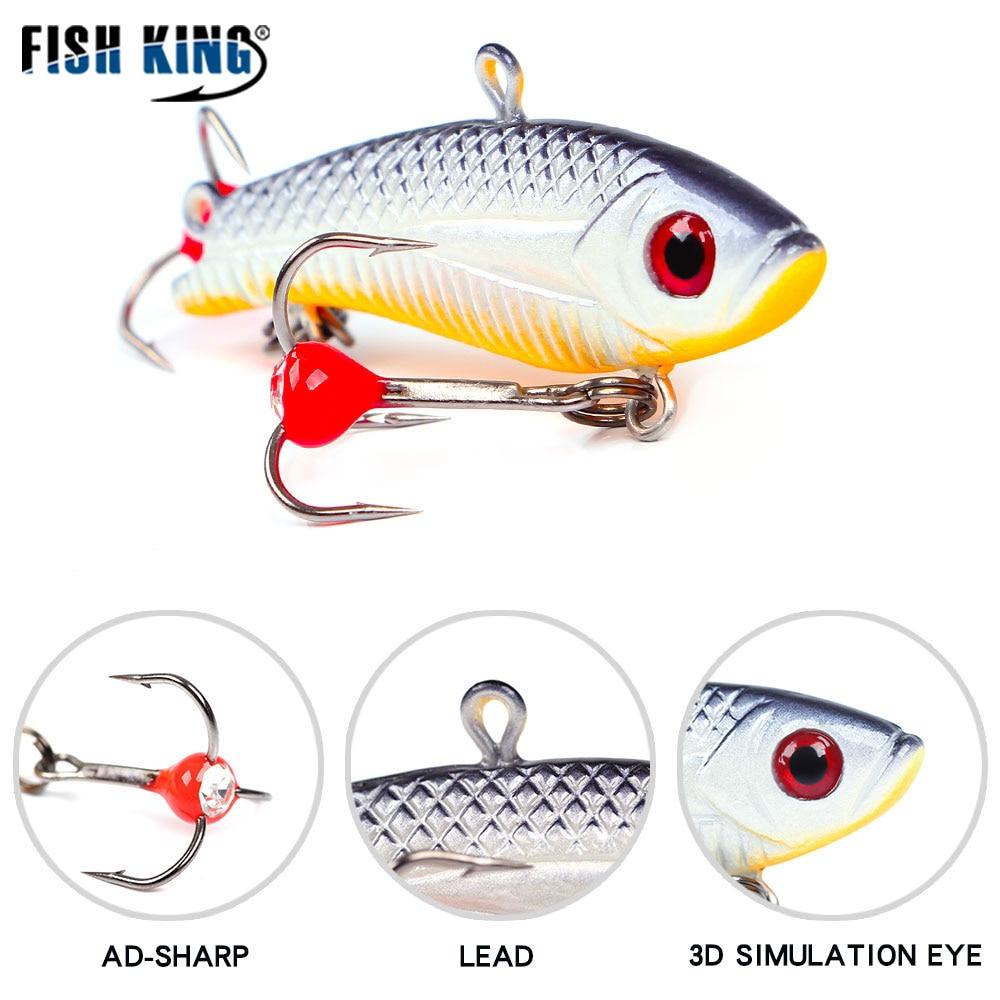 FISH KING 1pcs 50-55mm Winter Ice Fishing Lure  20-35g Balancer Hard Bait Lure For Ice Fishing Lead Fishing Bai Wobbler Balancer