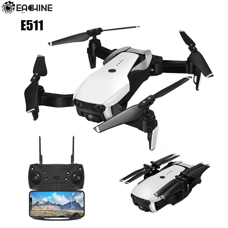 Eachine E511-mise à niveau E58 WIFI FPV avec caméra HD 1080 P/720 P Mode sans tête 16 minutes temps de vol Drone pliable RC quadrirotor