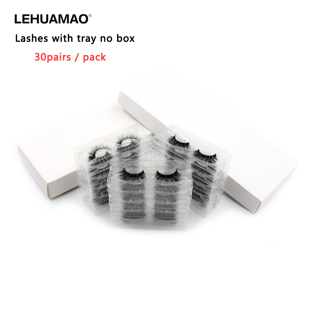30 Pairs/Pack Eyelashes 3D Mink Lashes With Tray No Box Hand Made Full Strip Lashes Mink False Eyelashes Makeup Eyelashes Fluffy