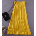 Free shipping women skirt plus size 4xl 5XL long 2015 spring summer women Solid Color Modal skirt large size Skirts yellow JM47