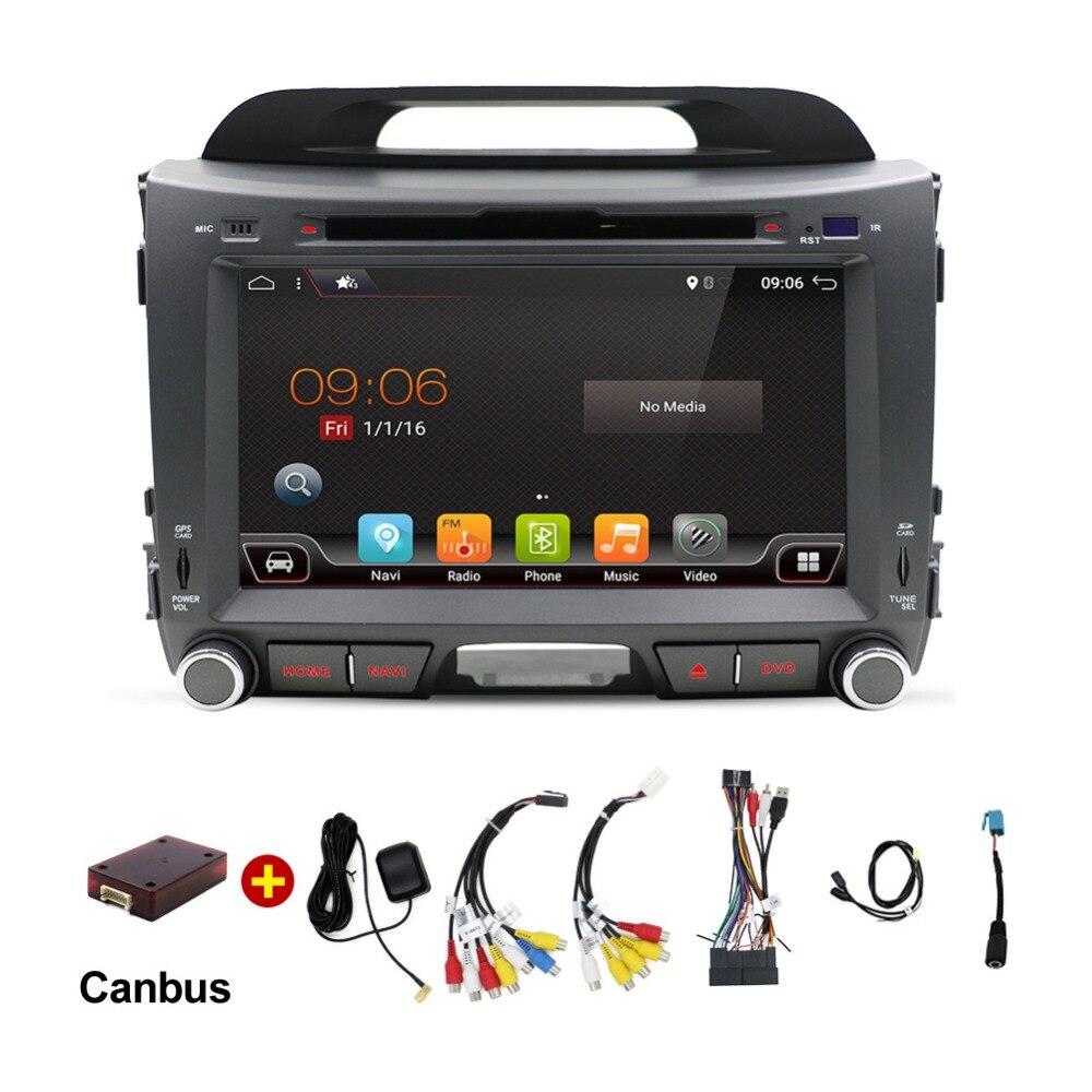 2 DIN автомагнитолы GPS Android 7.1 автомобиль DVD для Kia Sportage R 2014 2011 2013 2015 Автомобильный мультимедийный плеер с wi-Fi Bluetooth ...