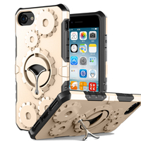 Cool Armor Phone Case For IPhone 7 Plus 6 6S Plus 3D Gearwheel Metal Rotate Stands