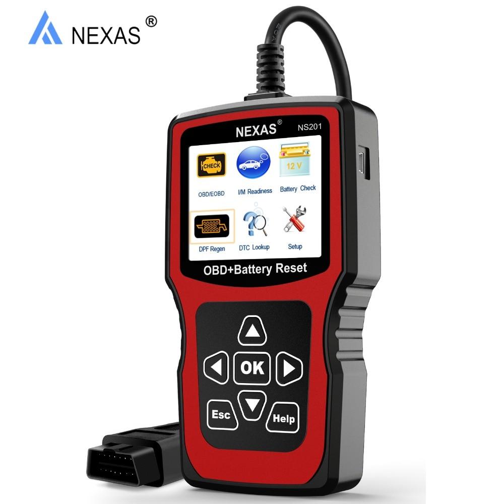 NEXAS NS201 OBD2 Auto Car Diagnostic Tool Engine DPF Reset