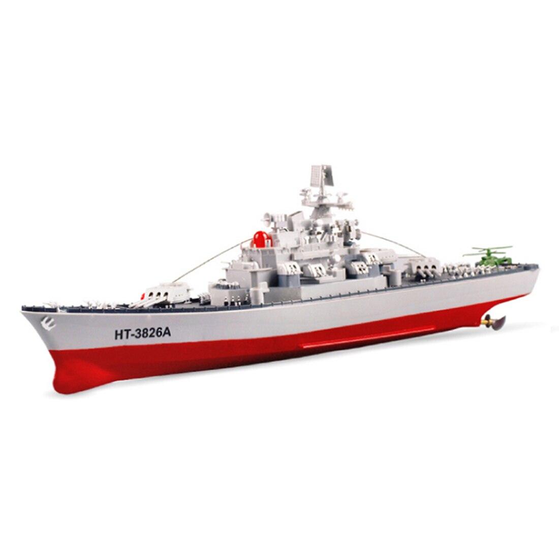 Bateau RC 6 KM/H haute vitesse 58 cm 1:250 cuirassé militaire RC bateau de guerre jouet bateau télécommandé comme cadeau pour enfants jouet Kid-US Plug