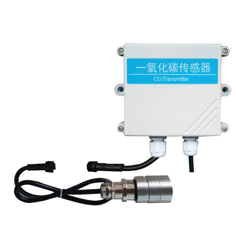 Detector de Monóxido de Carbono de Digitas do Monitor do Gás do co Rs485 do tipo Rachado do co 0-10 v 4-20ma