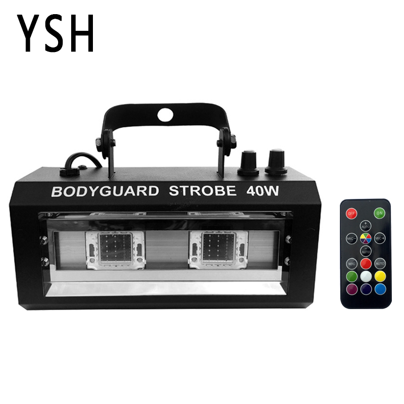 YSH RGBW Strobe Light LED Disco Strobe Lights 40W DJ Flashing Stage Light for KTV Party Lighting Christmas Decoration for HomeYSH RGBW Strobe Light LED Disco Strobe Lights 40W DJ Flashing Stage Light for KTV Party Lighting Christmas Decoration for Home