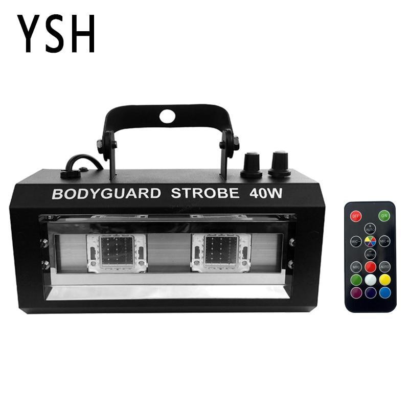 YSH RGBW Strobe Light LED Disco Strobe Lights 40W DJ Flashing Stage Light For KTV Party Lighting Christmas Decoration For Home