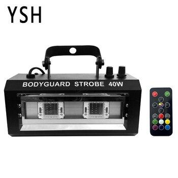 YSH RGBW Stroboscoop LED Disco Strobe Lichten 40 W DJ Knipperende Fase Licht voor KTV Party Verlichting Kerst Decoratie voor Thuis