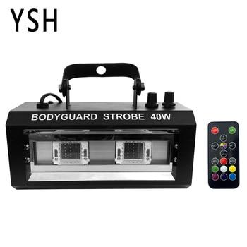 YSH RGBW Stroboscoop LED Disco Strobe Lichten 40W DJ Knipperende Fase Licht voor KTV Party Verlichting Kerst Decoratie voor Thuis