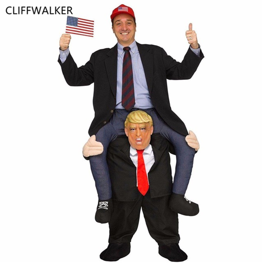 Dropshipping Donald Trump Pantalon Partie Robe Up Rouler Sur Me Mascotte Costumes Transporter Dos Nouveauté Jouets Halloween Party Fun Cosplay