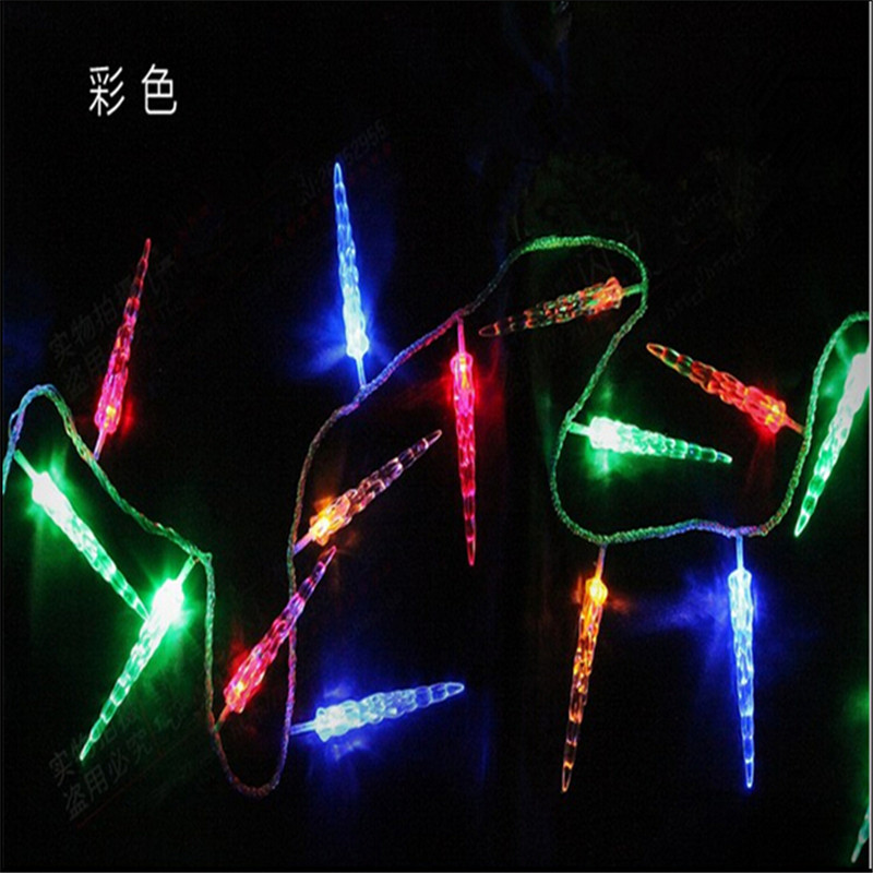 10M 50 LED Icicle String Lights Nytår Christmas Xmas Wedding Party - Ferie belysning - Foto 2