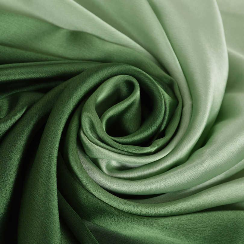 [BYSIFA] Lungo In Raso di Seta Della Sciarpa di Inverno Delle Signore di Pendenza Verde Dello Scialle Della Sciarpa di Marca Superiore del Grado di Sciarpe Semplice Pianura Testa sciarpa 180*90cm