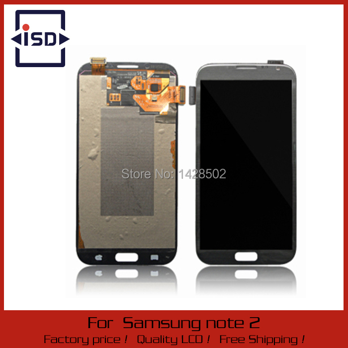 Grey and White LCD Display Touch Screen Digitizer Assembly For Samsung Galaxy Note 2 N7100 N7105
