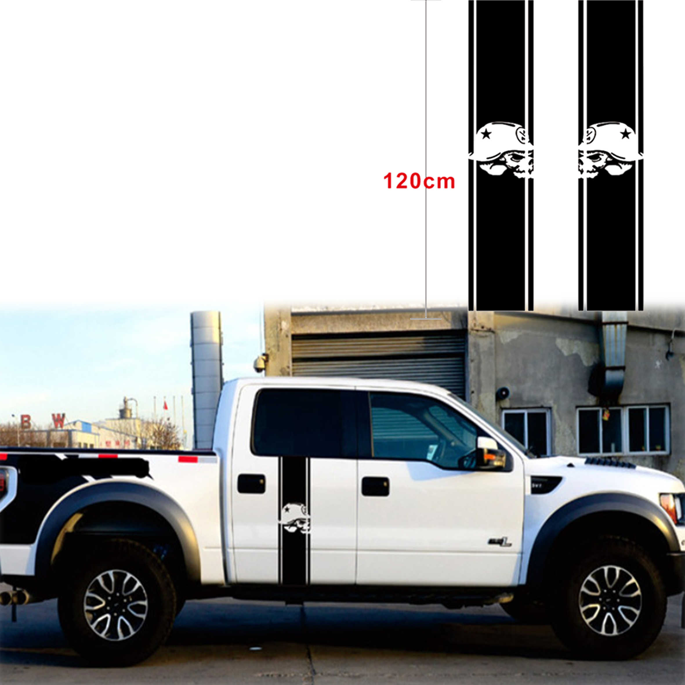 Detail feedback questions about truck bed stripe skull decal racing stripe skull truck vinyl stickers decals for 1500 2500 ram on aliexpress com alibaba