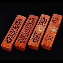 Carved Wood Rosewood Incense Burner Box Wooden Censer Stick Holder Joss Home Decor A