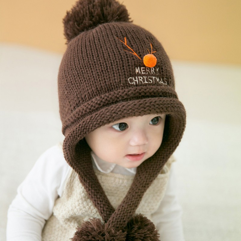 Baby Hat Cute Baby Winter Hat Warm Infant Beanie Cap For Children Boys  Girls Animal Kids Crochet Knitted Hat With Ball-in Hats   Caps from Mother    Kids on ... c3461eb2b2f