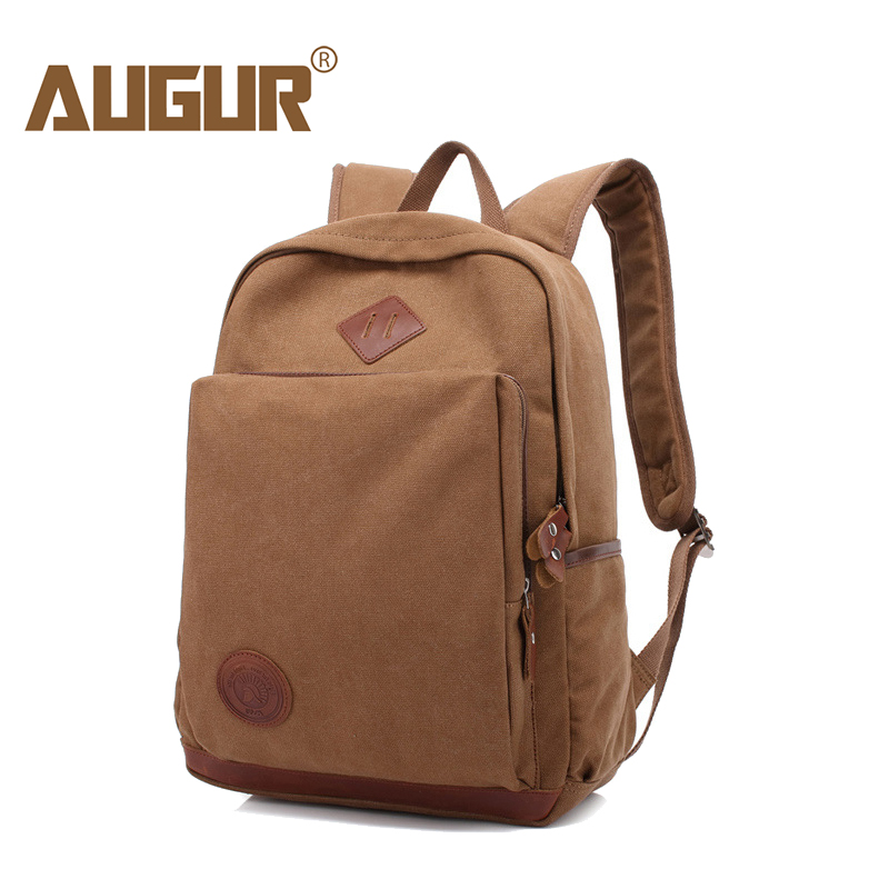AUGUR Fashion Men Women's Backpack Canvas Travel Laptop Bag Rucksacks Famale Backpacks Teenagers Student School Bags for Girls men backpack student school bag for teenager boys large capacity trip backpacks laptop backpack for 15 inches mochila masculina