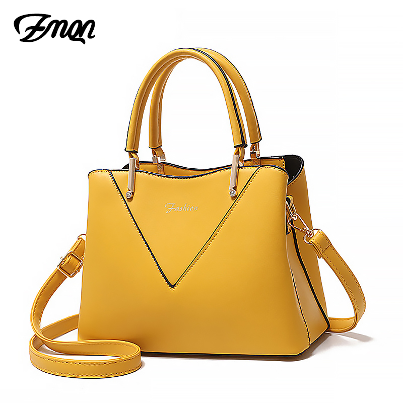 ZMQN Yellow Crossbody Bag For Women Leather Luxury Handbags Women Bags Designer 2019 Ladies Hand Bags Female Bolsa Feminina A840