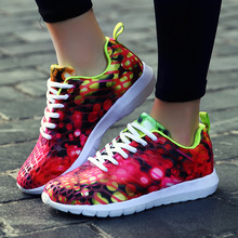 Lovers 3D Printing  Shoes for Men Breathable Sneakers Women Flywire Outdoors Comfortable Trainers
