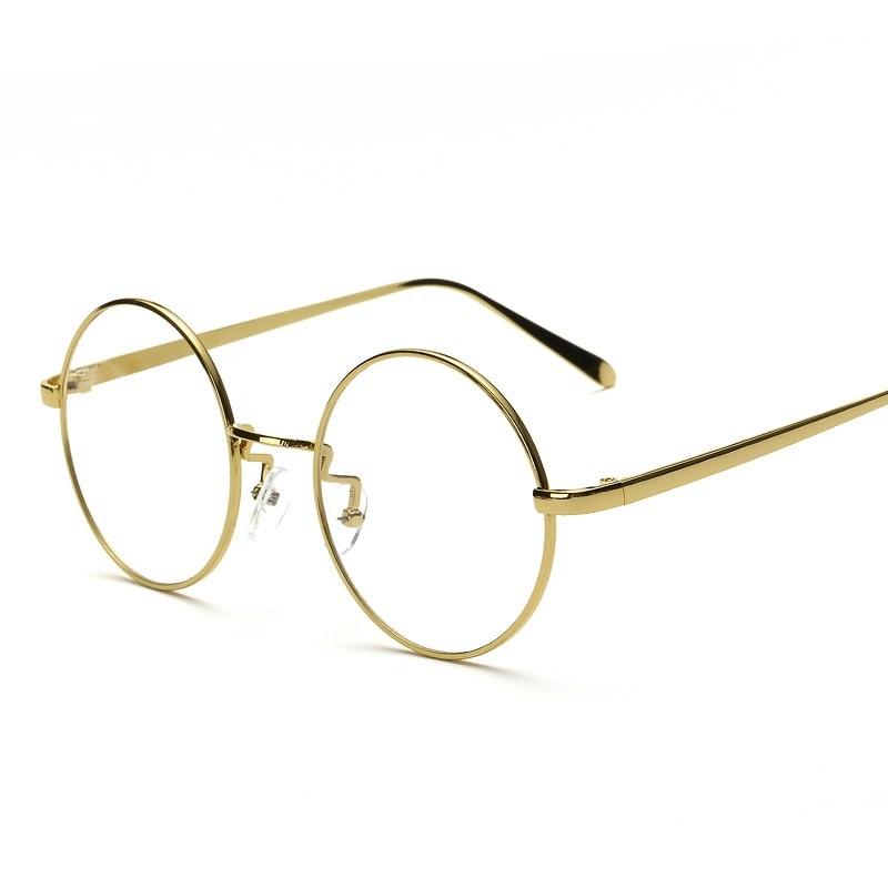 a0042c46f1823 أزياء خمر معدنية مستديرة إطار النظارات النساء الرجال جديد تماما البصرية  النظارات والطالبات gafas نظارة دي فيو