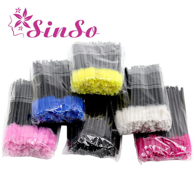 SinSo Lashes Eyelash brushes Makeup brushes Disposable Mascara Wands Applicator Spoolers Eye Lashes Cosmetic Brush Makeup Tools