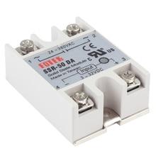 цена на Solid State Relay SSR-50DA Input 3-32VDC SSR Relay 50A/250V Output 24-380VAC