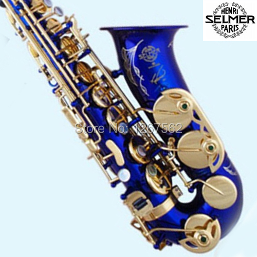 Brand New Genuine France Selmer Tenor Saxophone R54 Professional Lacquer Blue Sax mouthpiece With Case and Accessories