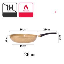 PFDIYF Japanese-style Ceramic Non-stick Pan Steak Pot Die-casting Thickening Pan Gas Stoves Dedicated Cookware Tool