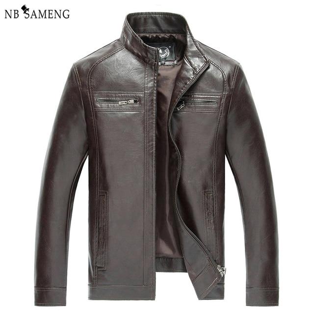 High Quality New Style Brand Luxury Fashion Men's Leather Jacket 5XL Business Casual Haining Leather Jacket Men Coats  NSWT3002