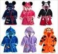 2015 Newest Character Boys Bathrobe Girls Robes Children's Bath Towel velvet Pajamas Blankets Hooded Night Grown Free Shipping