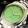 FNGEEN Luxury Brand Simple Fashion Gridding Texture Dial Automatic Mechanical Watch Men business wrist watch calendar Watch