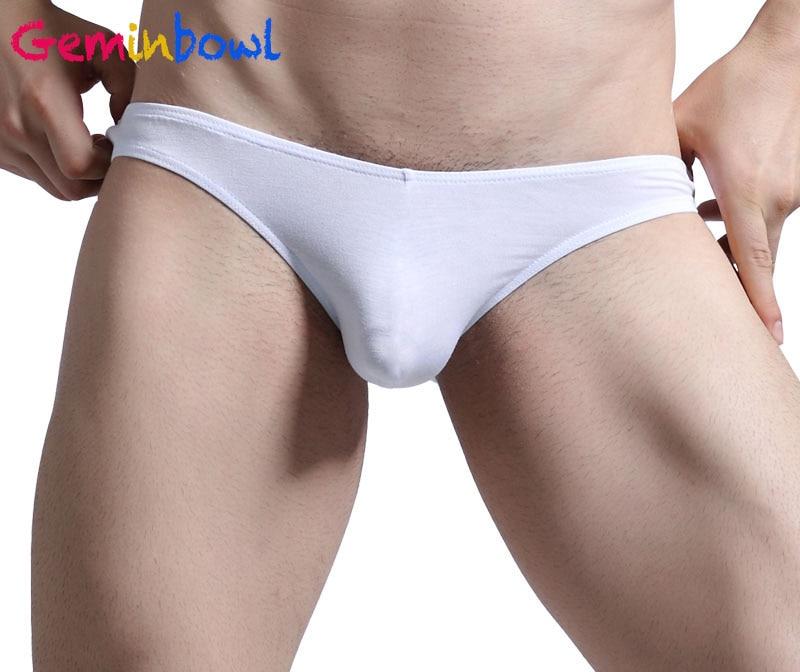 Geminbowl เกย์กางเกงในเซ็กซี่ของผู้ชายกางเกงนักมวยชายกางเกงขาสั้นนุ่ม