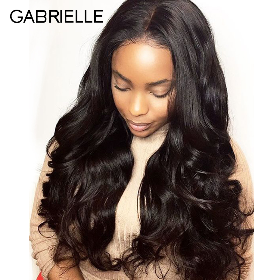 Gabrielle Brazilian Body Wave Hair 3 Bundles With Lace Frontal Human Hair Bundles With Frontal Natural Color Hair Bundles