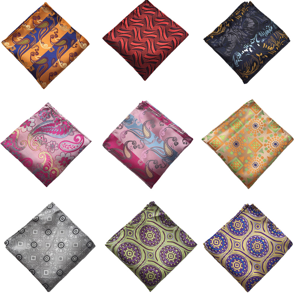 Men Paisley Floral Geometric Wedding Party Pocket Square Hanky Handkerchief  BWTHZ0121