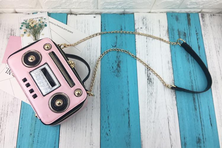 Handbag Radio-Shaped Womens Bag Crossbody Bag